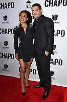 19 April 2017 - Los Angeles, California - Tete Espinoza and Marco De La O. Univision's 'El Chapo' Original Series Premiere Event held at The Landmark Theatre. Photo Credit: AdMedia