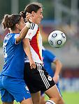 Birgit Prinz, Marta Carissimi,  QF, Germany-Italy, Women's EURO 2009 in Finland, 09042009, Lahti Stadium.