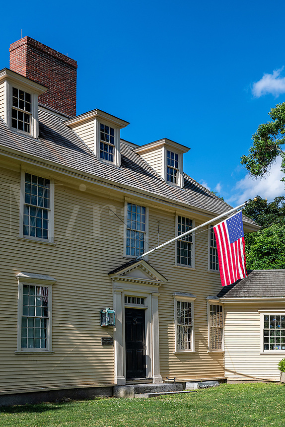 Historic Buckman Tavern, Lexington, Massachusetts, USA.