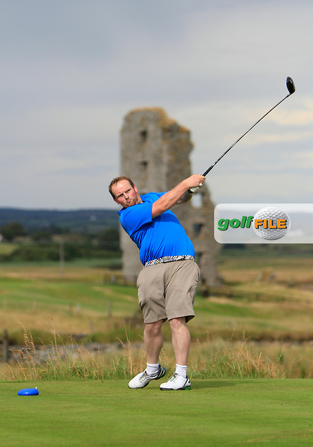 Simon Bryan (Delgany) on the 13th tee during the South of Ireland Amateur Open Championship Second Round at Lahinch Golf Club  28th July 2013 <br /> Picture:  Thos Caffrey / www.golffile.ie