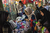 June 22, 2014 - Yazd, Iran. Local women shop at the local Grand Bazaar. Despite the increasing number of malls opened around the country, many Iranians still prefer to shop in traditional bazaars. © Thomas Cristofoletti / Ruom