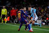 11th January 2018, Camp Nou, Barcelona, Spain; Copa del Rey football, round of 16, 2nd leg, Barcelona versus Celta Vigo; Jonny of Celta Vigo fights the ball against Jose Arnaiz