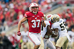 Wisconsin Badgers running back Garrett Groshek (37) during an NCAA College Big Ten Conference football game against the Purdue Boilermakers Saturday, October 14, 2017, in Madison, Wis. The Badgers won 17-9. (Photo by David Stluka)