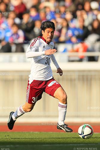 Ryusuke Sakai (Yamaga), <br /> FEBRUARY 21, 2015 - Football / Soccer :<br /> 2015 J.League Pre-season match between <br /> Yokohama F Marinos 0-1 Matsumoto Yamaga FC <br /> at Nissan Stadium in Kanagawa, Japan. <br /> (Photo by Yohei Osada/AFLO SPORT) [1156]