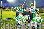 Karl McMahon with Donnacha Ireland, Ben McCarthy, Christopher Wynne and Cian McMahon pictured ahead of Killarney Celtics friendly against Shamrock Rovers, which will be played in Celtic Park on Tuesday evening.......................
