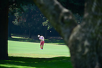 Brandon Grace (USA) hits his approach shot on 1 during round 1 of the World Golf Championships, Mexico, Club De Golf Chapultepec, Mexico City, Mexico. 3/2/2017.<br /> Picture: Golffile | Ken Murray<br /> <br /> <br /> All photo usage must carry mandatory copyright credit (&copy; Golffile | Ken Murray)