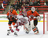 Tom Kroshus (Princeton - 4), Colin Blackwell (Harvard - 63), Colton Phinney (Princeton - 33) - The Harvard University Crimson defeated the visiting Princeton University Tigers 5-0 on Harvard's senior night on Saturday, February 28, 2015, at Bright-Landry Hockey Center in Boston, Massachusetts.
