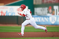 Springfield Cardinals outfielder Charlie Tilson (8) running the bases during a game against the Frisco RoughRiders  on June 3, 2015 at Hammons Field in Springfield, Missouri.  Springfield defeated Frisco 7-2.  (Mike Janes/Four Seam Images)