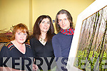 Christopher O'Connor Dingle shows author Eileen Sheehan Scartaglen (centre) and artist Ronnie Moore Fossa one of his painting he has which is part of his 'Walking Between Worlds' exhibition in West End House restaurant Killarney on Monday evening   Copyright Kerry's Eye 2008