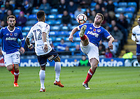 Adam Buxton of Portsmouth during the FA Cup 1st round match between Portsmouth and Wycombe Wanderers at Fratton Park, Portsmouth, England on the 5th November 2016. Photo by Liam McAvoy.