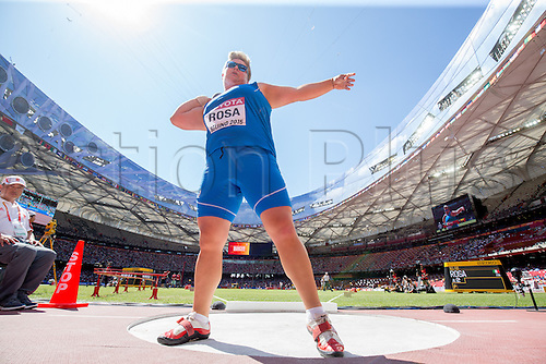 22.08,2015. Beijing, China.   Italy's Chiara Rosa competes during the Women's Shot Put Qualification during the 15th International Association of Athletics Federations (IAAF) Athletics World Championships in Beijing, China, 22 August 2015.