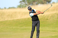Jyoti Randhawa (IND) on the 11th fairway during Round 1 of the 2015 Alfred Dunhill Links Championship at Kingsbarns in Scotland on 1/10/15.<br /> Picture: Thos Caffrey | Golffile