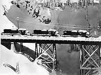 Year of the big snow , train going thru the Sierra mountains near Truckee, California. (1976 photo)