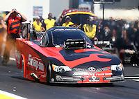 Jun. 1, 2014; Englishtown, NJ, USA; NHRA funny car driver Cruz Pedregon during the Summernationals at Raceway Park. Mandatory Credit: Mark J. Rebilas-