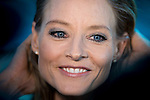 """American actress and director Jodie Foster during the premiere of the American Film """"Money Monster"""" at the Roof of the Torre Picasso in Madrid. May 18 2016. (ALTERPHOTOS/Borja B.Hojas)"""