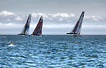 America's Cup World Series, first day of fleet race practice, America's Cup World Series in Cascais Portugal.