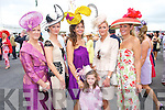 Glamour: Kerry Ladies adding a touch of glamour to the Galway Races on Thursday last were l-r: Hazel, Dervil O'Connell, Killarney, Carol Kennelly, Rosie Kennelly, and Avril O'Connell, Killarney, with Louise Huggard from.Waterville. Both Dervil and Avril were finalists in the Best Dressed Lady Competition.
