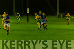 Eoin Rahilly Gneeveguilla goes past John Sheehan LAune Rangers in the McElligott cup final in Currans on Friday night