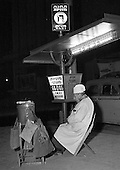 Hot dog vendor, Tel Aviv, 1966