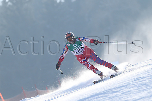 15.02.2013, Schladming, Austria. Jean Pierre Roy in action during the qualification race of the Giant Slalom of  the FIS Alpine World Ski Championships 2013