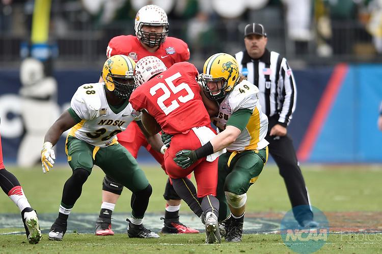10 JAN 2015: North Dakota St. takes on Illinois St. University during the Division I Men's Football Championship held at Toyota Stadium in Frisco, TX. Justin Tafoya/NCAA Photos