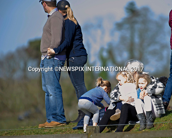 25.03.2017; Gatcombe, UK: PETER &amp; AUTUMN PHILLIPS WITH CHILDREN SAVANNAH AND ISLA<br /> at the Gatcombe Horse Trials.<br /> The 2-day horse trials are held on Princess Anne&rsquo;s estate in Minchinhampton, Gloucestershire.<br /> Picture shows: The girls cuddle up to their grandmother Kathleen McCarthy<br /> Mandatory Photo Credit: &copy;Francis Dias/NEWSPIX INTERNATIONAL<br /> <br /> IMMEDIATE CONFIRMATION OF USAGE REQUIRED:<br /> Newspix International, 31 Chinnery Hill, Bishop's Stortford, ENGLAND CM23 3PS<br /> Tel:+441279 324672  ; Fax: +441279656877<br /> Mobile:  07775681153<br /> e-mail: info@newspixinternational.co.uk<br /> Usage Implies Acceptance of OUr Terms &amp; Conditions<br /> Please refer to usage terms. All Fees Payable To Newspix International