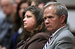 Edward Smart, father of Elizabeth Smart, listens to testifimony on Wednesday, April 13, 2011, at the Legislature in Carson City, Nev., on a measure that would require anyone arrested on a felony charge or sexual assault to give a DNA sample..Photo by Cathleen Allison