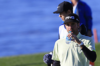 Bubba Watson (USA) walks off the 8th tee during Sunday's Final Round of the 2018 AT&amp;T Pebble Beach Pro-Am, held on Pebble Beach Golf Course, Monterey,  California, USA. 11th February 2018.<br /> Picture: Eoin Clarke | Golffile<br /> <br /> <br /> All photos usage must carry mandatory copyright credit (&copy; Golffile | Eoin Clarke)