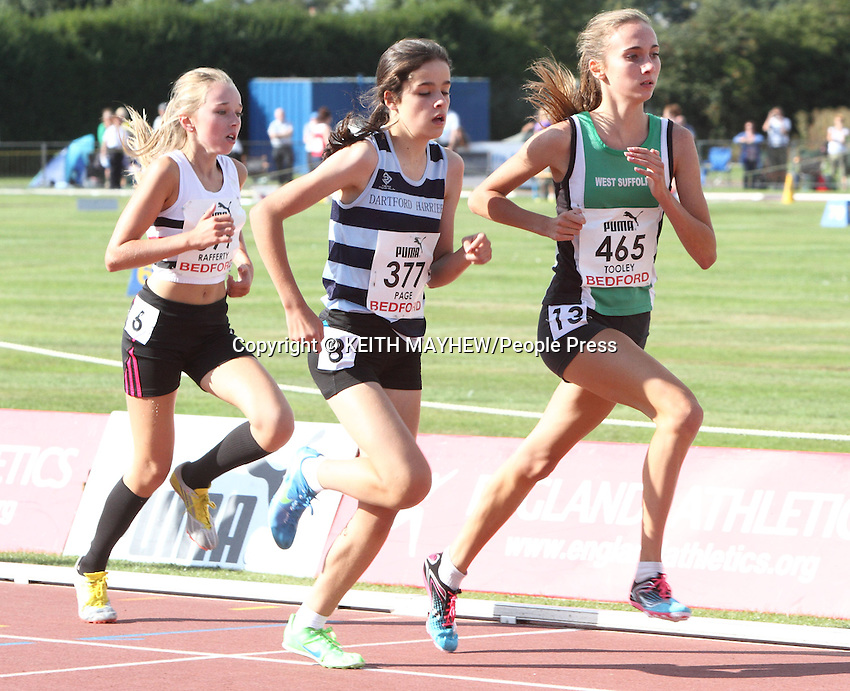 England Athletics Under 15s and Under 17s Track and Field Championships Day One, at Bedford International Athletic Stadium, Bedford, UK - August 31st 2013<br />