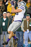 Kansas State's tight end Zach Trujillo (85) catches a pass for a touchdown NCAA football game, Saturday, December 06, 2014 in Waco, Tex. (Mo Khursheed/TFV Media via AP Images)
