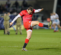 7th February 2020; AJ Bell Stadium, Salford, Lancashire, England; Premiership Cup Rugby, Sale Sharks versus Saracens;   Alex Goode of Saracens  back from injury warms up pre match