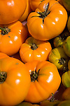 Close-up of organic tomatoes at the Coventry farmers market, Connecticut