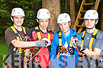 St Brendan's college pupils celebrated receiving their Junior Cert results by going rope climbing in Aghaoe l-r: Dean Murphy Headford, Brian Myers Fossa, Shane Collier Currow and Daniel Murphy Killarney