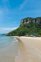 Empty Centara Grand beach near Ao Nang, Krabi province, Thailand