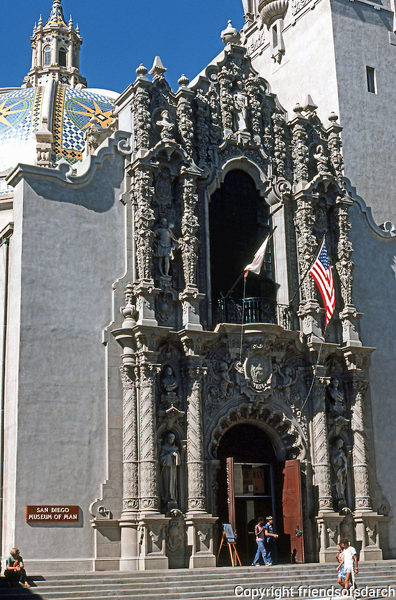 San Diego: Balboa Park--Museum of Man. Bertram Goodhue, Architect.  Photo '78.