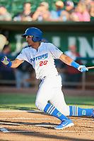 Jefrey Souffront (29) of the Ogden Raptors bats against the Missoula Osprey at Lindquist Field on July 12, 2018 in Ogden, Utah. Missoula defeated Ogden 11-4. (Stephen Smith/Four Seam Images)