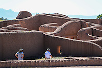 archaeological site of Paquim&eacute; Casas Grandes in Chihuahua Mexico. <br /> Paquim&eacute; is an archaeological zone of Paquim&eacute; Culture, is located approximately 260 km northwest of the city of Chihuahua, in the state of Chihuahua, Mexico and half a kilometer from the town of Casas Grandes. This archaeological site was named a World Heritage Site by UNESCO in 1998.<br /> <br /> It was a pre-Hispanic settlement that influenced the northwest of the Sierra Madre Occidental; most of western Chihuahua and some areas of the states of Sonora, Arizona, Utah, Colorado and New Mexico. Researchers estimate that the population probably grew to some 3,500 inhabitants, but their linguistic and ethnic affiliation are unknown.<br /> <br /> The site is famous for its adobe buildings and doors in a &quot;T&quot;. Of its total length is only a fraction fenced and less excavated. Its buildings have features of the culture of Oasisam&eacute;rica and demonstrates the skill of the prehispanic architects in the region.<br /> <br /> In the west of this population is a row of structures built with stone fill and probably were covered with painted lime; those were the ceremonial centers.<br /> <br /> Some researchers argue that Paquim&eacute; had an indigenous cultural development of the culture of Oasisam&eacute;rica Dulce. Others claim it was the result of the invasion of an elite central Mexican highlands or Mexico.<br /> <br /> <br /> Zona arqueol&oacute;gica de Paquim&eacute; en  Casas Grandes Chihuahua.<br /> Paquim&eacute; es una zona arqueol&oacute;gica de la Cultura de Paquim&eacute;, est&aacute; localizada aproximadamente a 260 km al noroeste de la ciudad de Chihuahua, en el estado de Chihuahua, M&eacute;xico y a medio kil&oacute;metro del poblado de Casas Grandes. Esta zona arqueol&oacute;gica fue nombrada Patrimonio de la Humanidad por la Unesco en 1998.<br /> <br /> Fue un asentamiento prehisp&aacute;nico que influy&oacute; en el noroeste de la Sierra Madre Occidental;