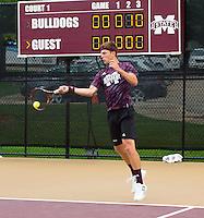 Super Bulldog Weekend Tennis vs. Vanderbilt.<br /> (photo by Russ Houston / &copy; Mississippi State University)
