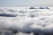 Undercast from the summit of Mount Osceola in the White Mountains, New Hampshire USA.