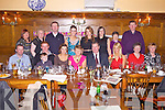 Athea woman Patricia Cleary(centre) enjoying her 60th birthday with family and friends last Saturday night in Leen's Hotel, Abbeyfeale. F l-r: Gearoid Collins, Rory Cleary, Colm Hassett, Patrice Cleary, Patricia and Patrick Cleary, Ann Marie Murphy, Bridie Histon, Chris Vaughan. B l-r: Nora, Phil and Billy Vaughan, Diane, Helen and Caroline Cleary and Peg and Joe Vaughan.