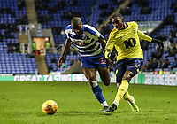 Blackburn Rovers' Amari'i Bell competing with Reading's Yakou Meite  <br /> <br /> Photographer Andrew Kearns/CameraSport<br /> <br /> The EFL Sky Bet Championship - Reading v Blackburn Rovers - Wednesday 13th February 2019 - Madejski Stadium - Reading<br /> <br /> World Copyright © 2019 CameraSport. All rights reserved. 43 Linden Ave. Countesthorpe. Leicester. England. LE8 5PG - Tel: +44 (0) 116 277 4147 - admin@camerasport.com - www.camerasport.com