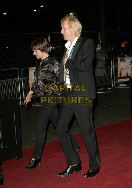 "RHYS IFANS.UK Premiere of ""Elizabeth - The Golden Age"" at the Odeon Leicester Square, London, England, October 23rd 2007..full length black suit profile side.CAP/AH.©Adam Houghton/Capital Pictures."