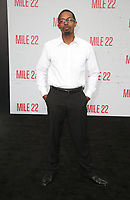 "9 August 2018-  Westwood, California - Brandon Scales. Premiere Of STX Films' ""Mile 22"" held at The Regency Village Theatre. Photo Credit: Faye Sadou/AdMedia"