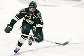 Mario Puskarich (UVM - 21) - The Boston College Eagles defeated the University of Vermont Catamounts 7-4 on Saturday, March 11, 2017, at Kelley Rink to sweep their Hockey East quarterfinal series.The Boston College Eagles defeated the University of Vermont Catamounts 7-4 on Saturday, March 11, 2017, at Kelley Rink to sweep their Hockey East quarterfinal series.
