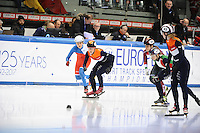 SHORT TRACK: TORINO: 15-01-2017, Palavela, ISU European Short Track Speed Skating Championships, Final Relay Ladies, Start, Suzanne Schulting (NED), ©photo Martin de Jong