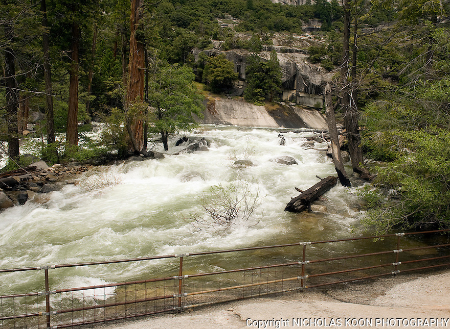 Merced River at the top of  Vernal Falls, Yosemite - 2011