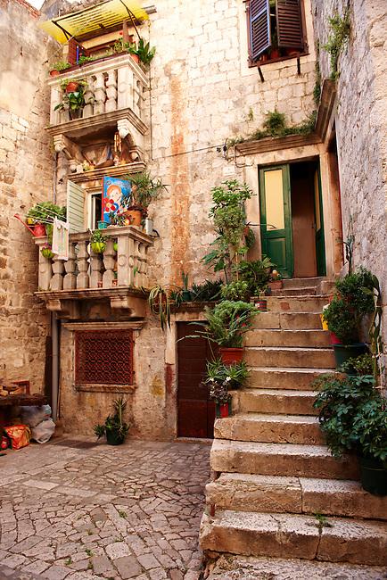 Narrow alleys and tunnels - Trogir Croatia