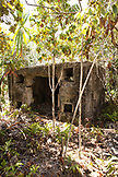 MAURITIUS, Ile aux Aigrettes, a dilapidated concrete structure that was built and used by the British to store ammunition