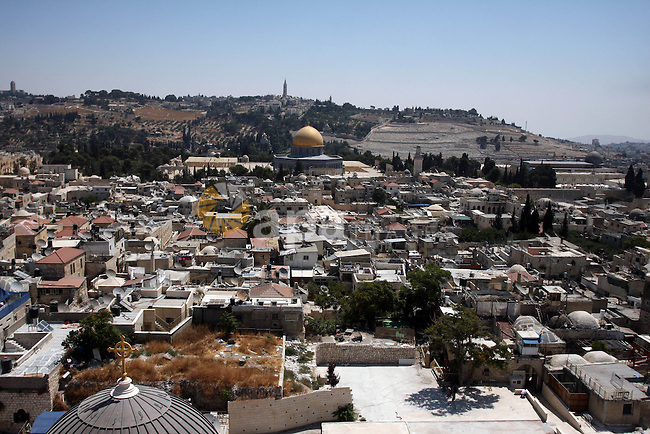 General view shows Jerusalem's Old City and al-Aqsa Mosque compound, Islam's third holiest site, in Jerusalem on Aug 16,2012. Photo by Issam Rimawi