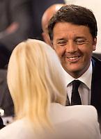 Il Presidente del Consiglio Matteo Renzi arrivala Conferenza degli Ambasciatori, alla Farnesina, Roma, 28 luglio 2015.<br /> Italian Premier Matteo Renzi arrives to attend the Conference of Italian Ambassadors, at the Foreign Ministry headquarters in Rome 28 July 2015.<br /> UPDATE IMAGES PRESS/Riccardo De Luca